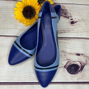 KATY PERRY Space Blue Artist Leather Ballet Flats